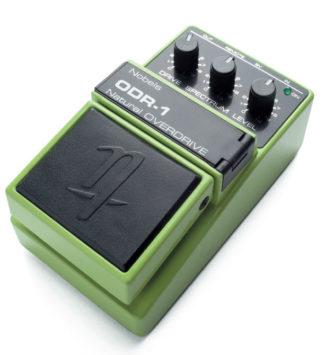 Overdrive-Effektpedal für E-Gitarre, grün, von Nobels
