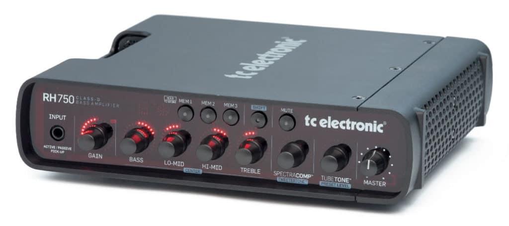 Bass-Topteil von TC Electronic, schwarz