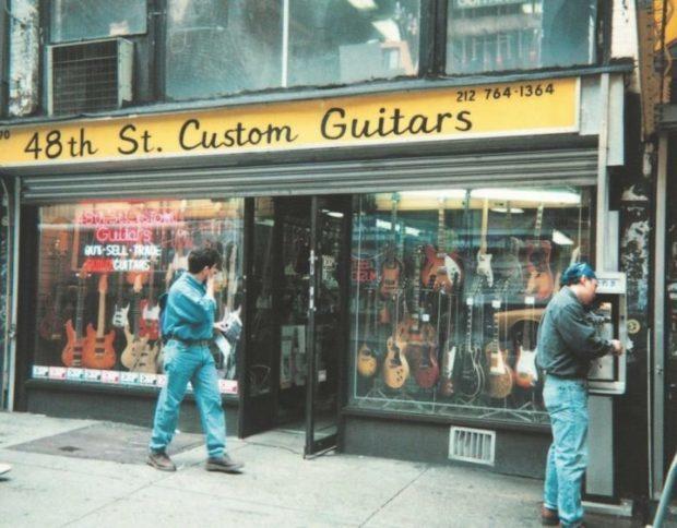 Der ehemalige ESP-Shop 170 W 48th Street in New York im Jahr 1986