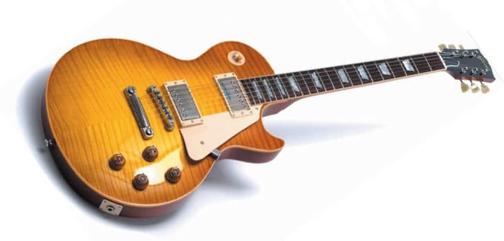 Eine braune Gibson Les Paul