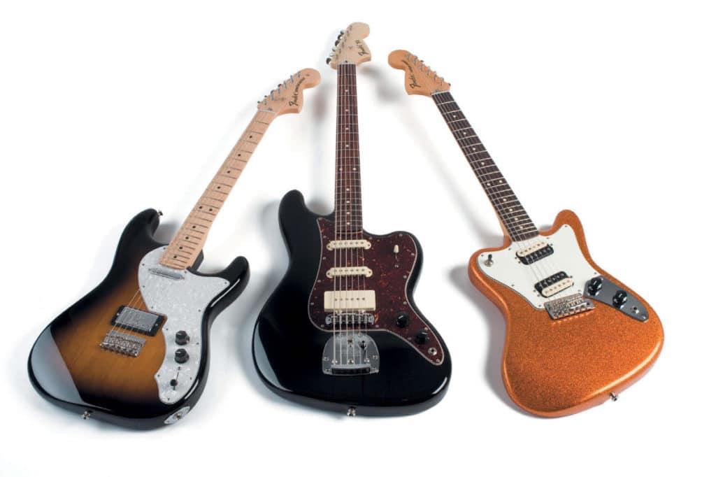 Drei E-Gitarren von Fender