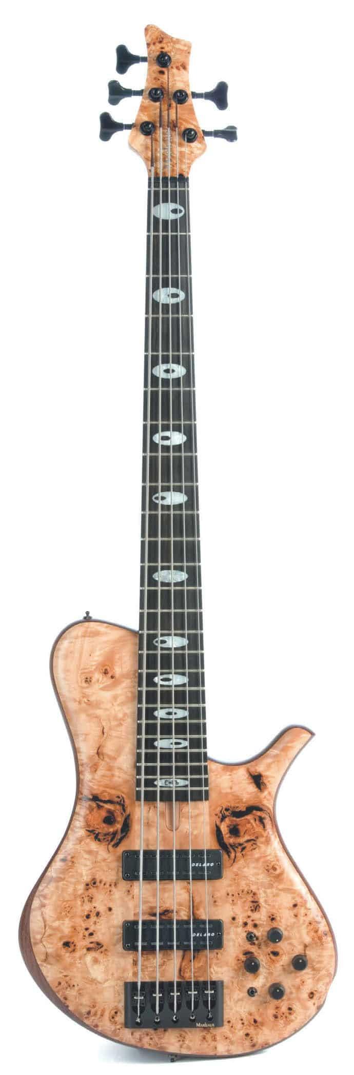 5-String-Bass von Marleaux, stehend