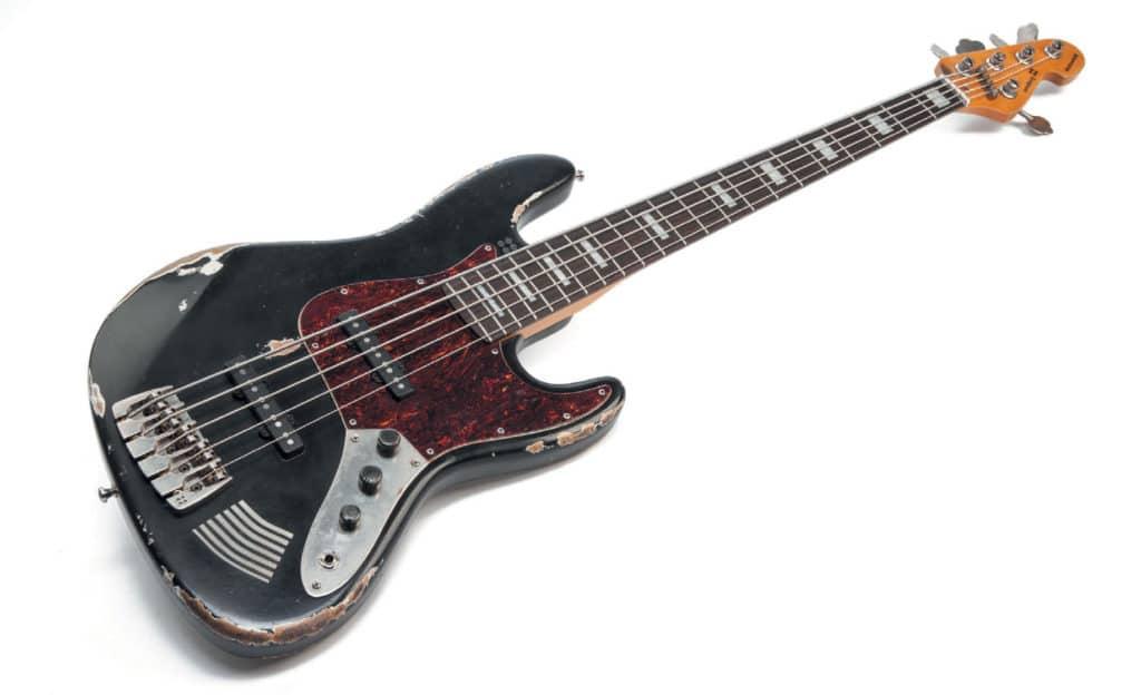 Fünfsaitiger E-Bass, schwarz, used