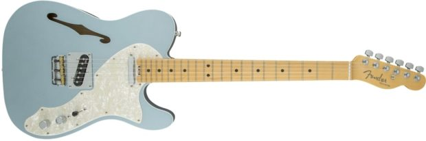 American Elite Telecaster Thinline in Mystic Ice Blue