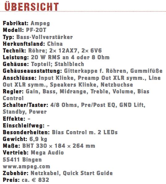 Ampeg PF20T-profil