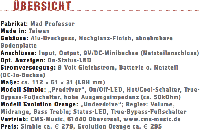 Mad Professor und Evolution Orange_profil