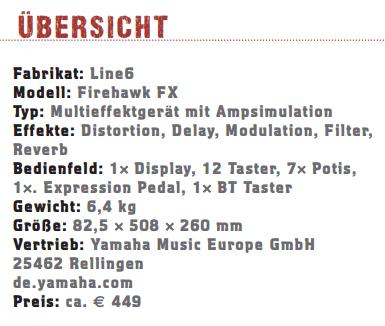 Line6 Firehawk FX_profil