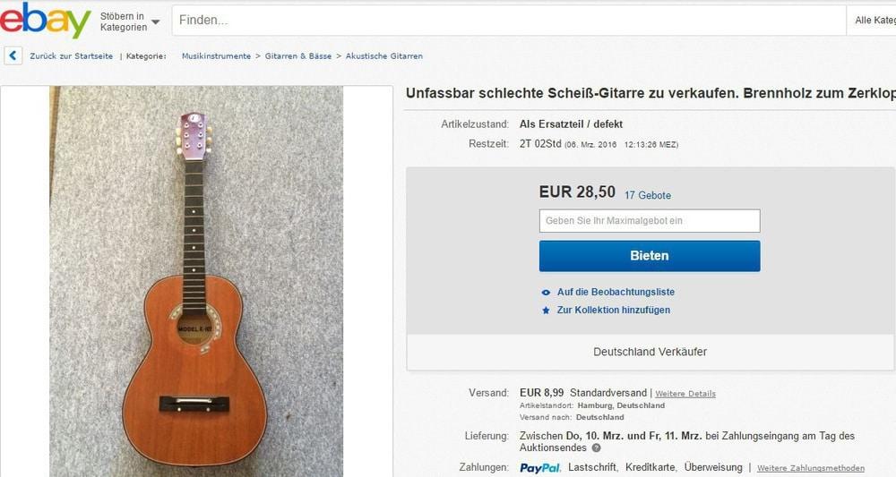 Ebay Gitarre