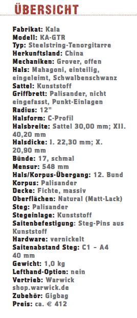 Kala KA-GTR Tenor-Gitarre_profil