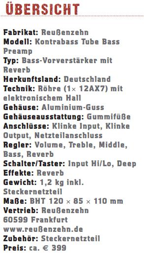Reussenzahn Tube Preamp_profil