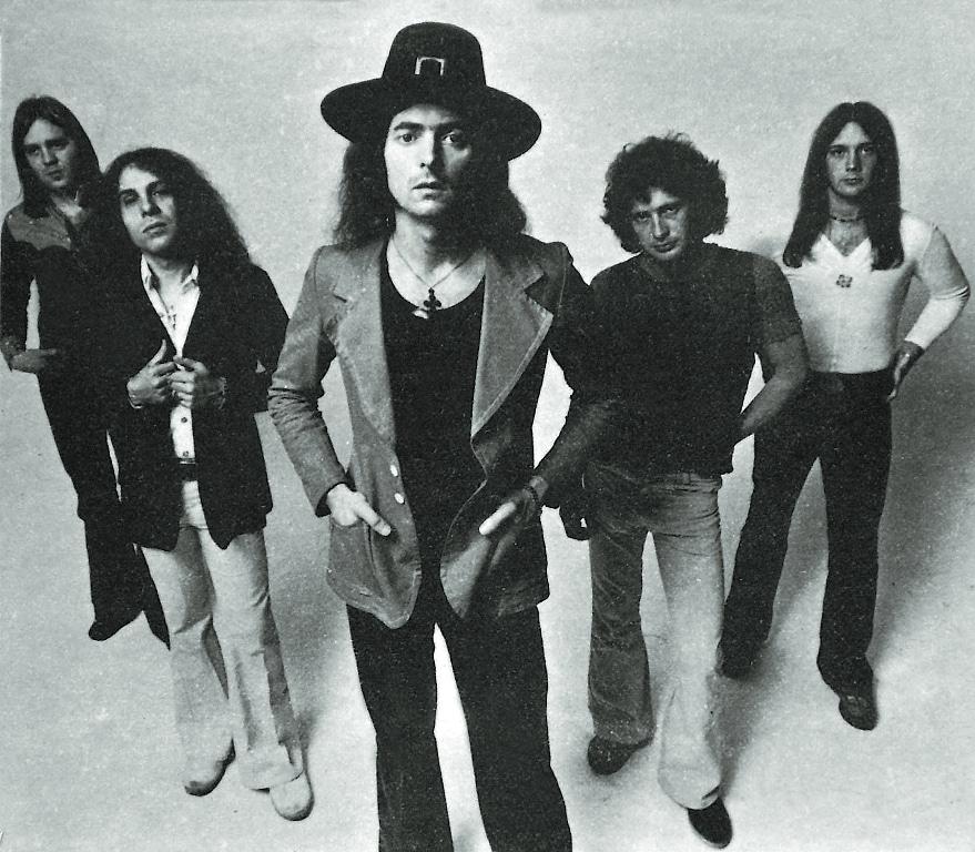 Die Band Rainbow mit ihrer ursprünglichen Besetzung.