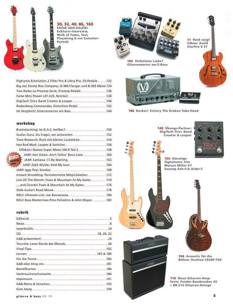 Gitarre & Bass Inhalt 2