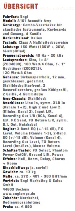 Engl Acoustic A101_profil