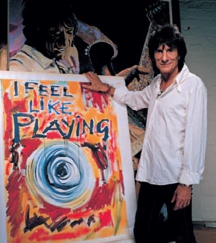 Ron Wood mit seinem Bild