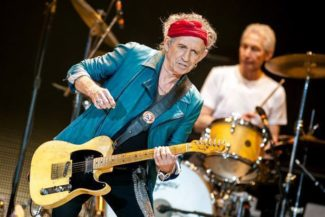 The Rolling Stones live, Keith Richards mit Telecaster