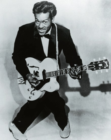 Chuck Berry im 50er-Jahre-Look auf dem Cover von Roll Over Beethoven