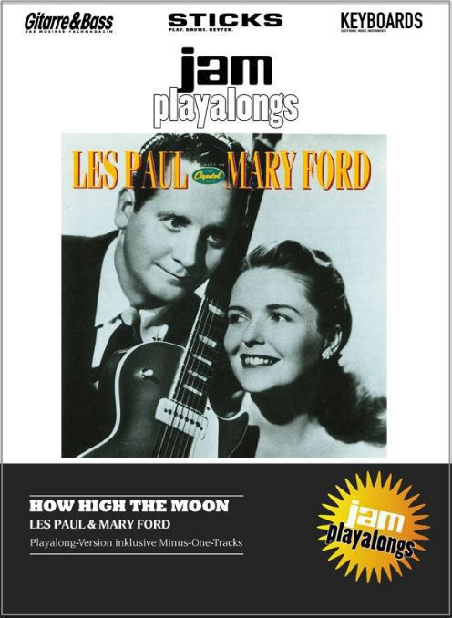 les paul mary ford playalong how high the moon. Black Bedroom Furniture Sets. Home Design Ideas