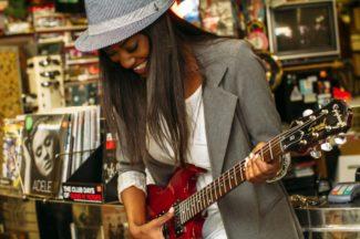 Guitar Woman Happy