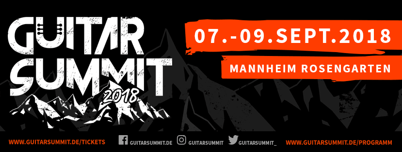 Guitar Summit Tickets On Sale Banner
