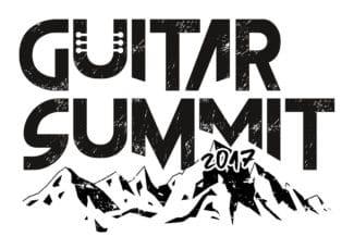 Guitar Summit Logo mit Berg weiß