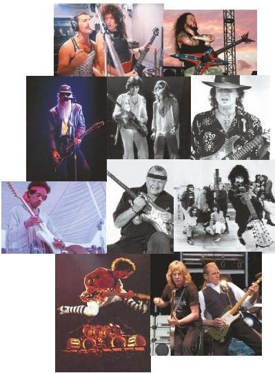 Verschiedene berühmte Persönlichkeiten aus der Rockgeschichte