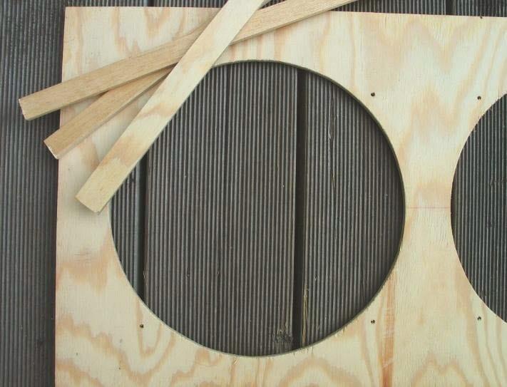 Frontbaffle aus Pappel-Holz für einen Fender Tweed-Combo