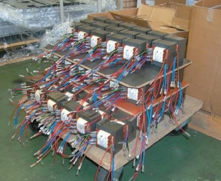 Trafos, die von einem Zuliefervertrieb geliefert wurden.