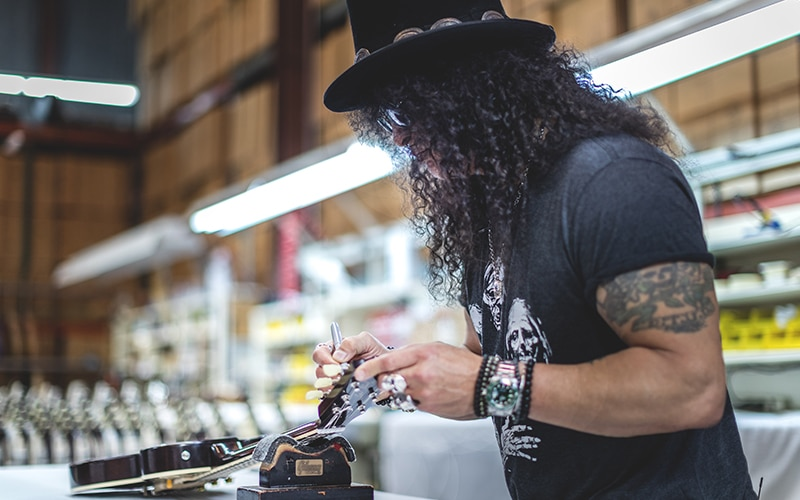 Slash im Gibson Custom Shop