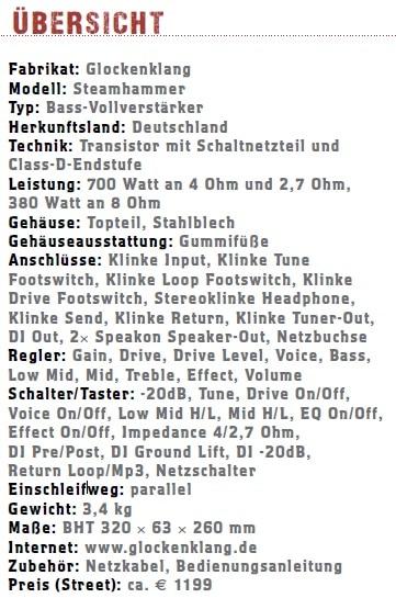 Glockenklang-Steamhammer-Bass-Head-Übersicht