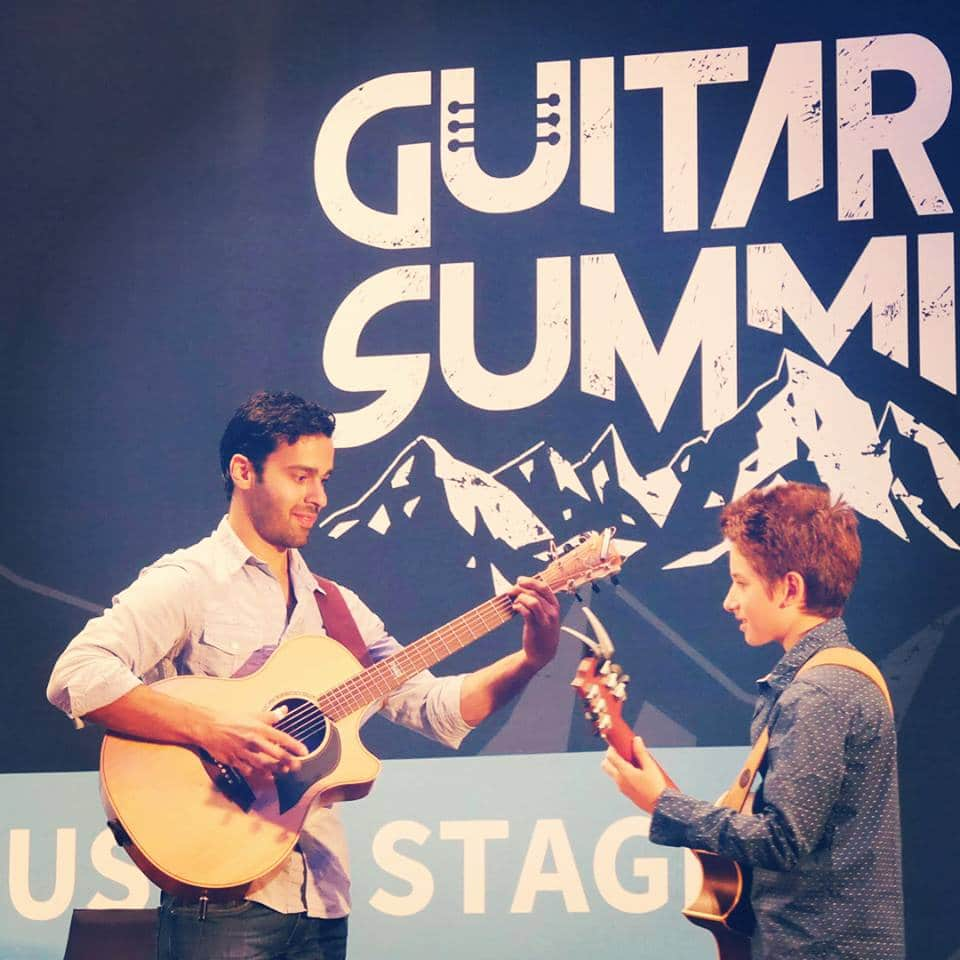 Jamal and Frano jaming at Guitar Summit 2017