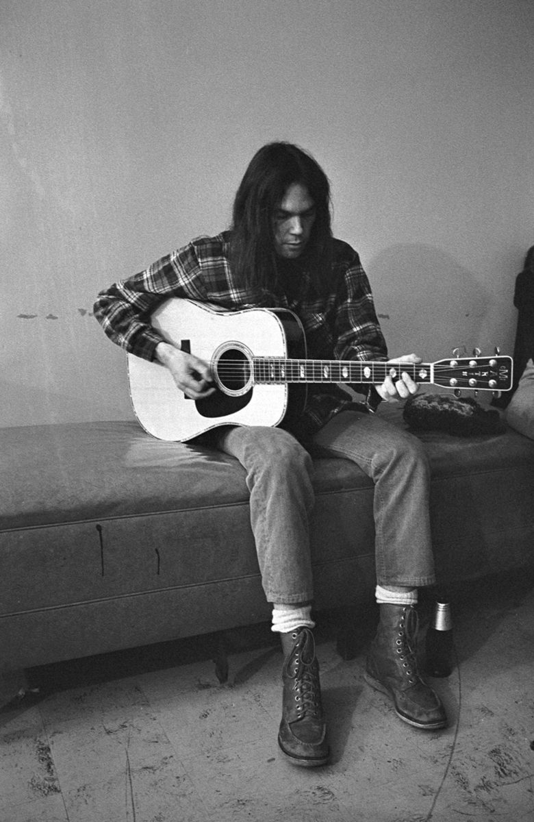 Neil Young With Guitar