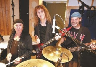 Anvil Trio with instruments