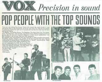 Bis Mitte der 60er Jahre spielte alles was in England eine Gitarre halten konnte Vox!