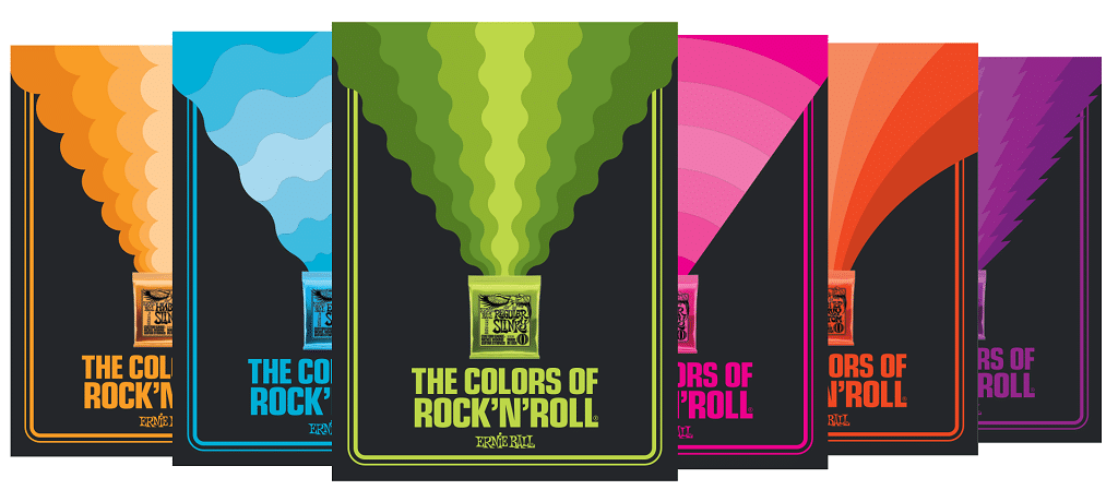 Ernie Ball Colors of Rock N Roll