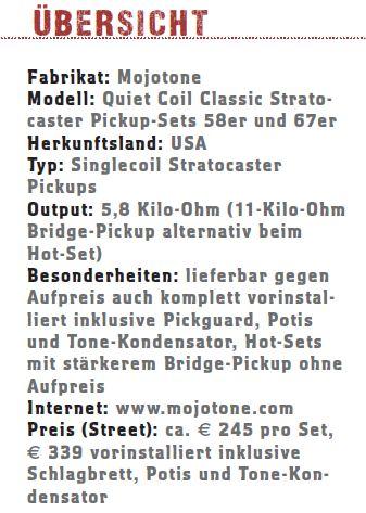Mojotone Classic Stratocaster Pickups