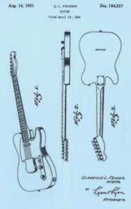 Patentzeichnung der Fender Telecaster