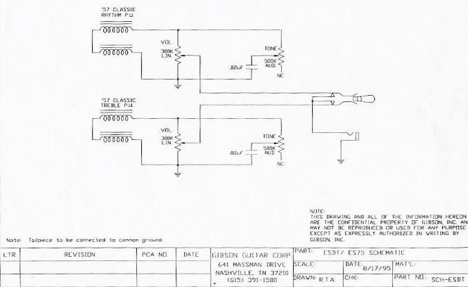 Welche Potis und Kondensatoren werden ab Werk in einer Gibson ES ...