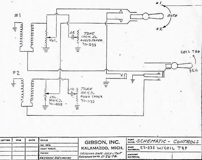 Gibson ES Schaltplan