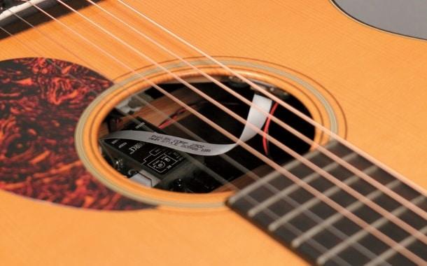 Manche Preamps, wie her beim LR Baggs Dual Source, werden im Korpus der Gitarre montiert.