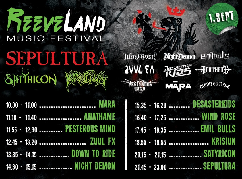 ReeveLand Festival LineUp