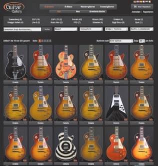 Die Guitar Gallery kann nicht nur durch seine Auswahl an teuren EGitarren überzeugen, sondern auch durch die Anbindung ans Internet, denn WYSIWYG.