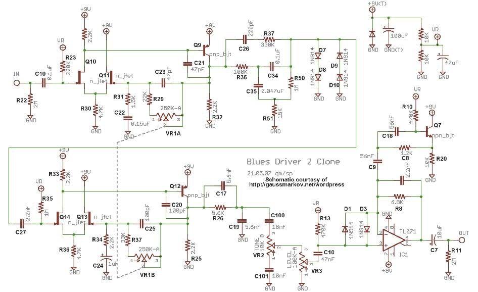 Schaltplan des BD-2