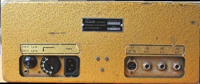 Rückansicht 1964 Klemt Echolette M40