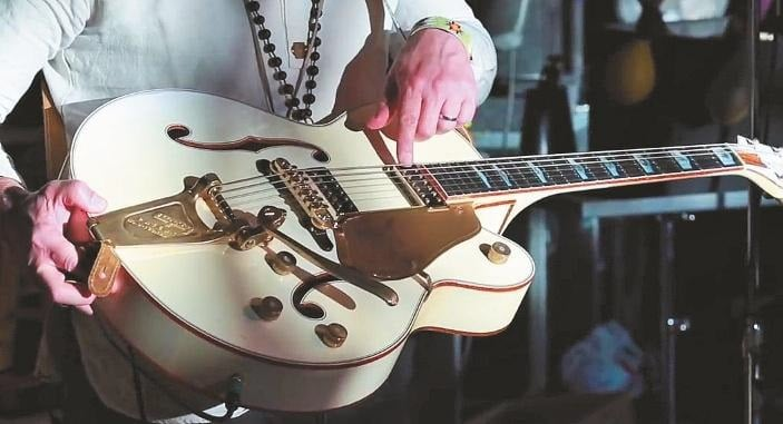 Rich Robinsons White Falcon aus dem Gretsch Custom Shop