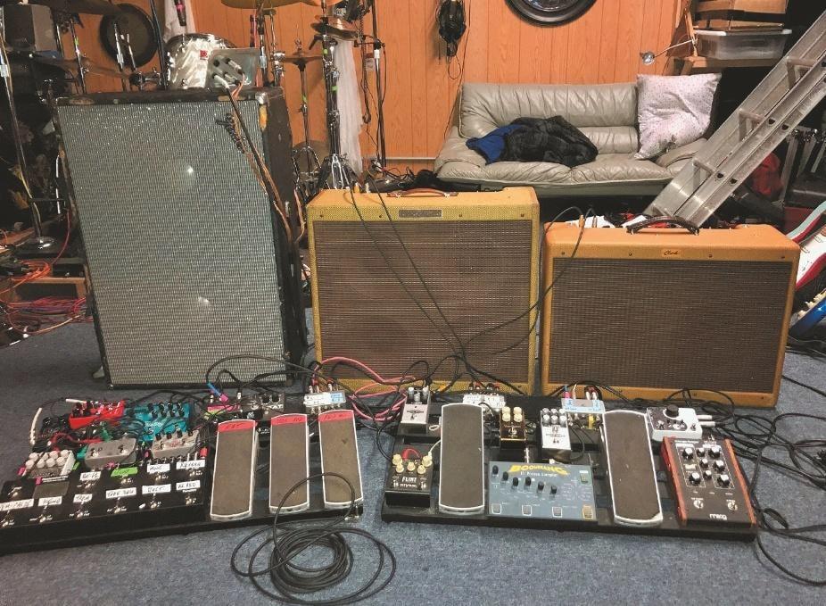 Jim Thomas' Amp & Pedalboard-Setup