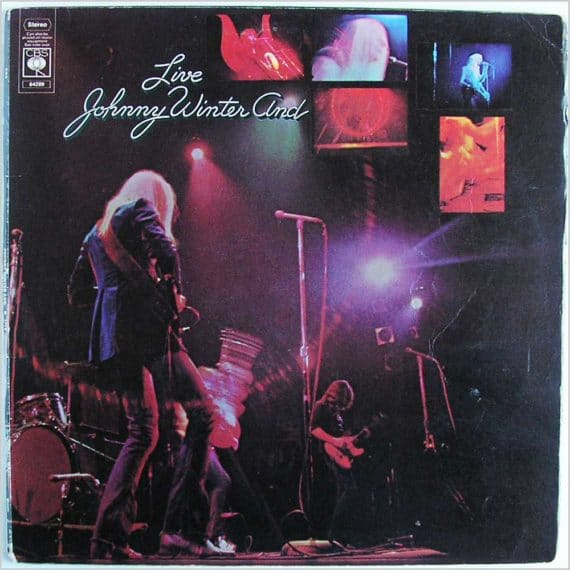 Gibson ES Birthday Johnny Winter Live And 1970 COVER