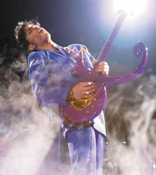 Prince mit Gitarre