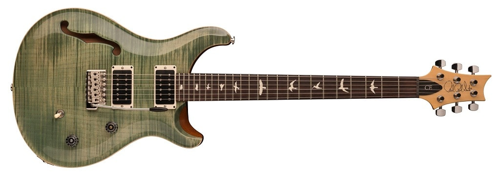 PRS CE 24 Semi Hollow Trampas Green