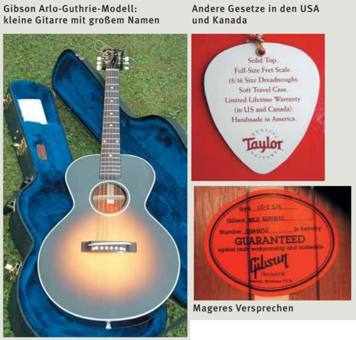 Garantie bei Gitarren