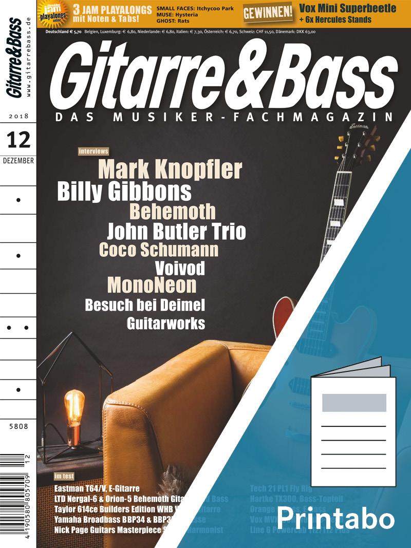 Produkt: Gitarre & Bass Jahresabonnement Print
